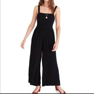 Madewell Smocked Cropped Jumpsuit